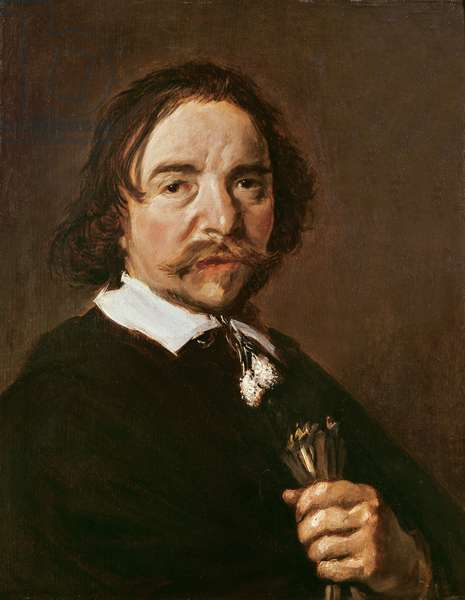 Portrait of a Man with a Glove and Black Hair, c.1657 (oil on canvas)