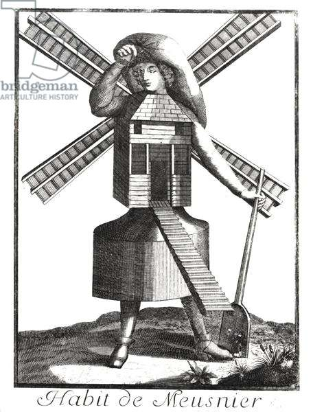 Dress for a Miller (engraving) (b/w photo)