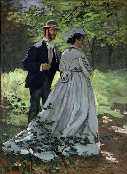 The Promenaders, or Claude Monet Bazille and Camille, 1865 (oil on canvas)