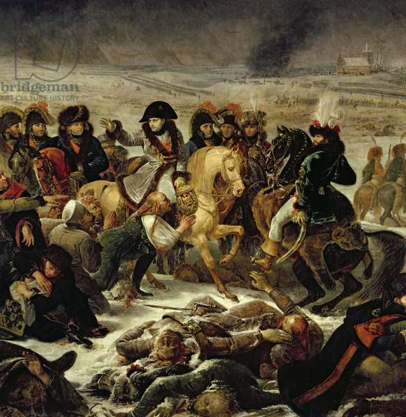 Napoleon on the Battle Field of Eylau, 9th February 1807, 1808 (oil on canvas) (detail of 18910)