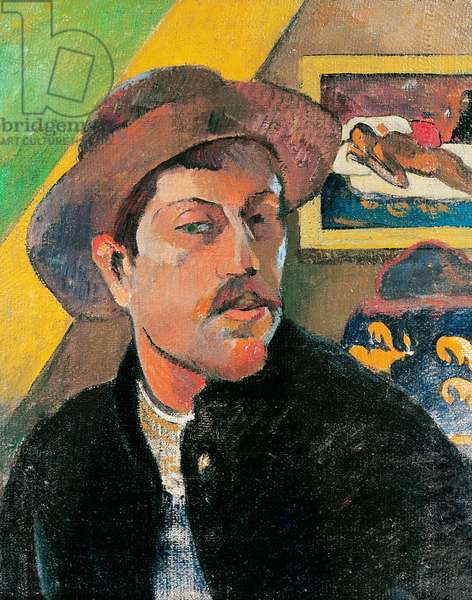 Self Portrait in a Hat, 1893-94 (oil on canvas)