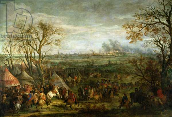 The Taking of Cambrai in 1677 by Louis XIV (1638-1715), late 17th century (oil on canvas)