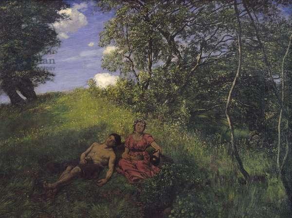 Siesta, 1889 (oil on canvas)