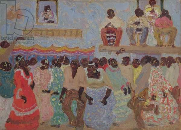 Negro Dance (oil on card)