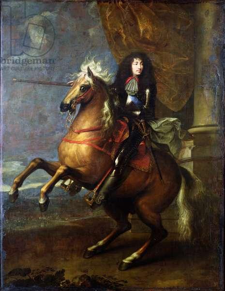 Equestrian Portrait of Louis XIV (1638-1715) c.1668 (oil on canvas)