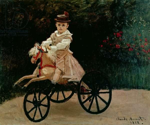 Jean Monet on his Hobby Horse, 1872 (oil on canvas)
