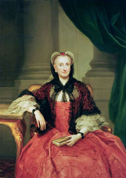 Maria Amalia of Saxony (1724-60) Queen of Spain (oil on canvas)