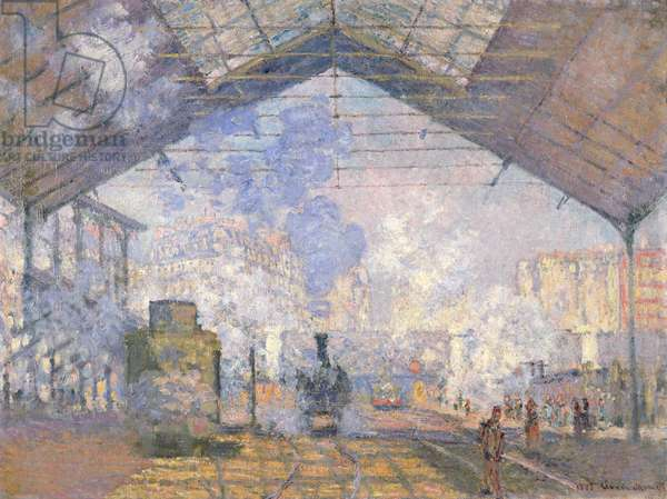 The Gare St. Lazare, 1877 (oil on canvas)