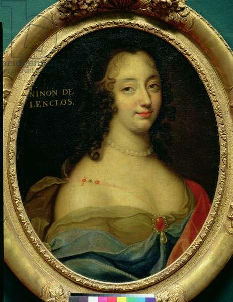 Portrait of Ninon de Lenclos (1620-1705) (oil on canvas) (see also 192133)