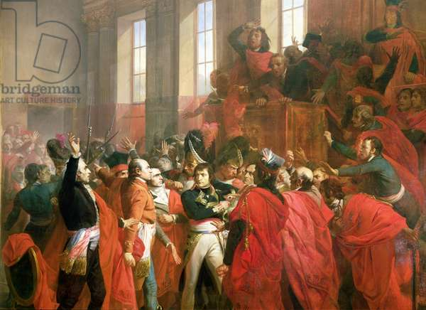 Bonaparte and the Council of Five Hundred at St. Cloud, 10th November 1799, 1840 (oil on canvas) (detail of 50509)