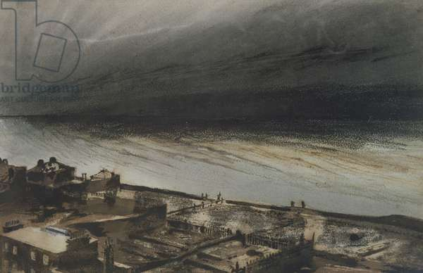 Marine-Terrace, Jersey, 1855 (charcoal, pencil and gouache on paper)
