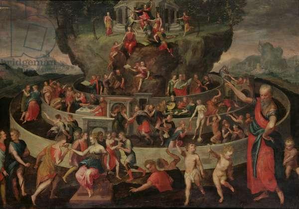 The Tabula of Cebes (oil on canvas)