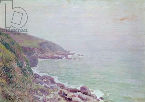 The Welsh Coastline, misty morning, 1897 (oil on canvas)
