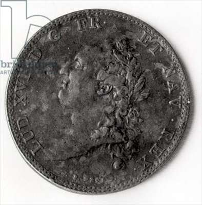 Silver crown of six pounds with the effigy of Louis XVI by Jean Pierre Droz (1746-1823)