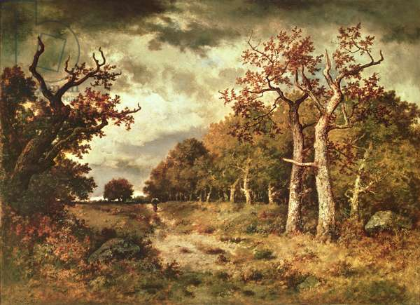 The Edge of the Forest, 1871 (oil on panel)