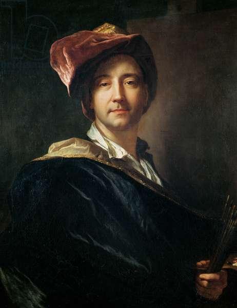 Self Portrait in a Turban, 1700 (oil on canvas)
