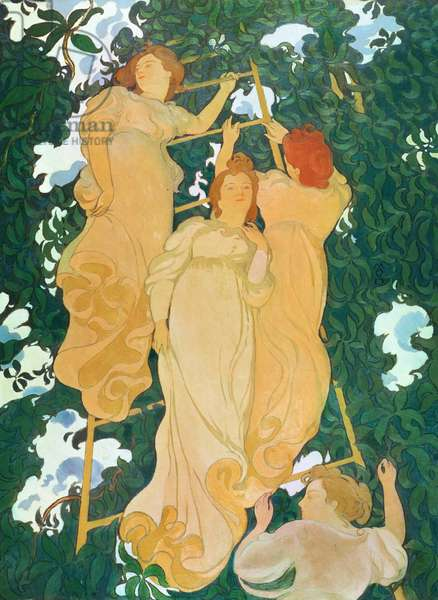 The Ladder in the Foliage, 1892 (oil on canvas)