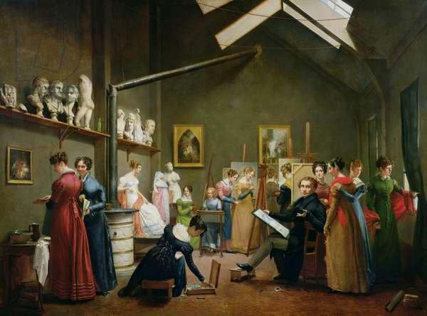 Interior of Alexandre Denis Abel de Pujol's (1787-1861) Studio (oil on canvas)