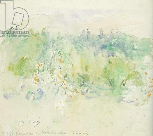 Normandy Landscape, 1880 (w/c on paper)