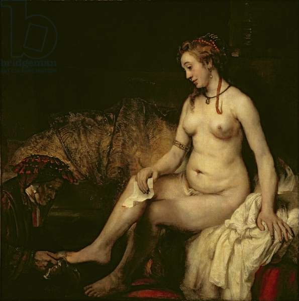 Bathsheba Bathing, 1654 (oil on canvas) (see 220594 for detail)