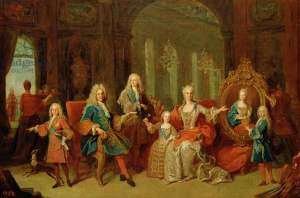 The Family of Philip V (1683-1746) of Bourbon, c.1722 (oil on canvas)