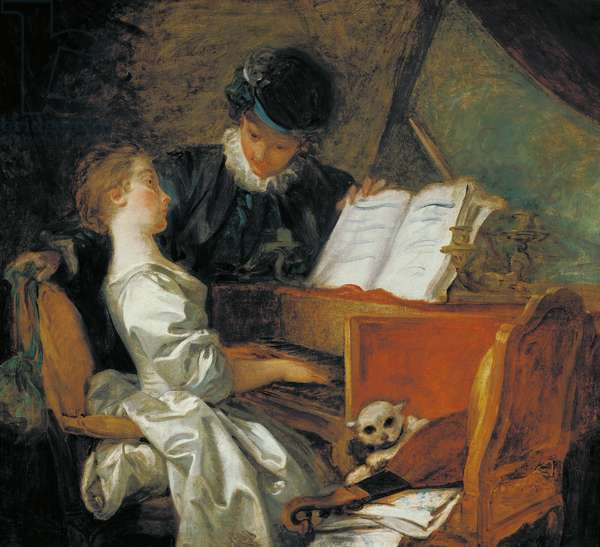 The Music Lesson (oil on canvas)