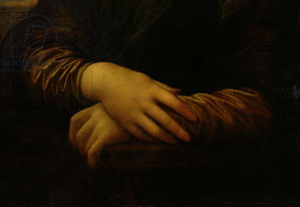 Mona Lisa, detail of her hands, c.1503-06 (oil on panel)