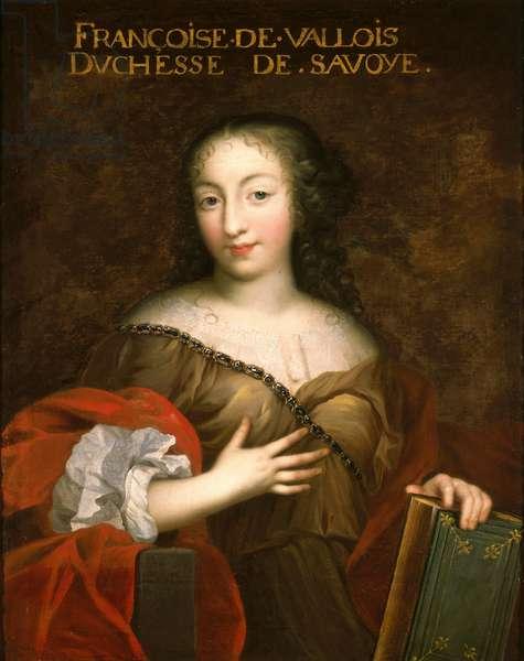 Francoise-Madeleine d'Orleans (1648-64) Duchess of Savoy (oil on canvas)