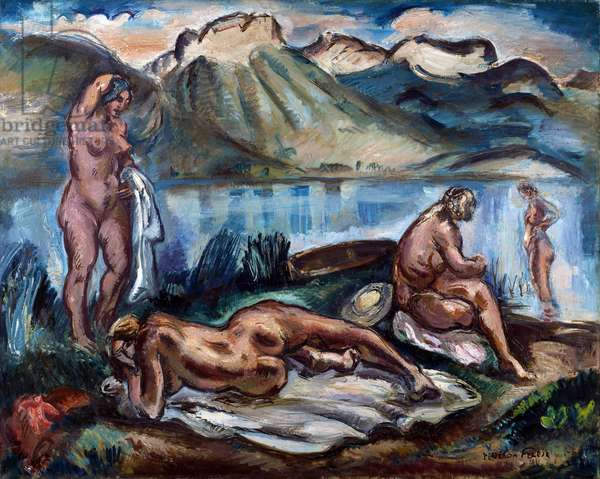 Nudes on the Banks of the Lac d'Annecy, 1931 (oil on canvas)