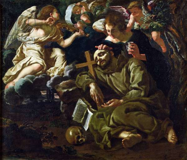 The Ecstasy of St. Francis (oil on canvas)