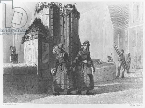 Arrival of the Duchess of Berry in Nantes, 1820 (engraving)