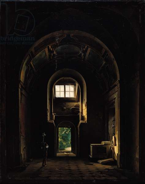 Interior of the Chapel of Saint-Philippe in the Eglise des Feuillants in Paris, 1814 (oil on canvas)