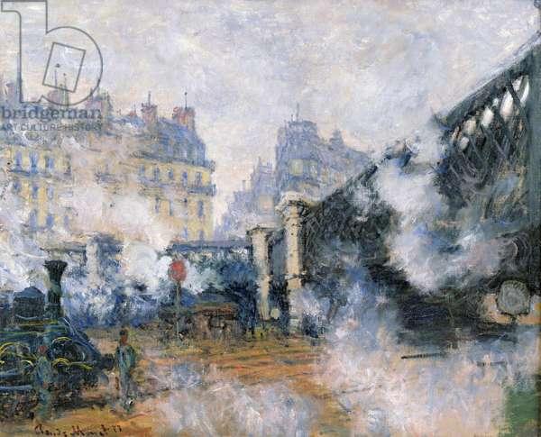 The Pont de l'Europe, Gare Saint-Lazare, 1877 (oil on canvas)