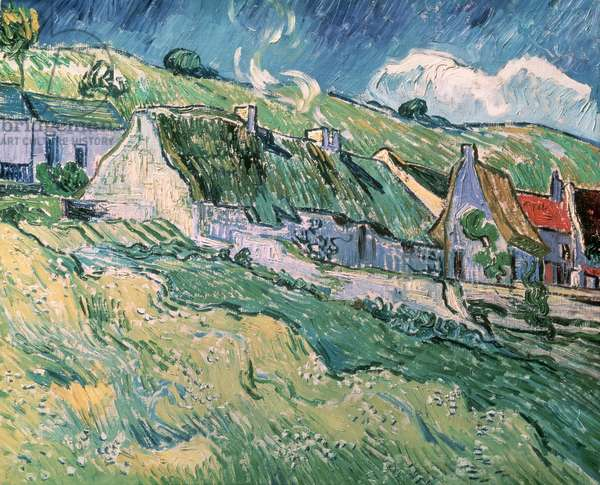 Cottages at Auvers-sur-Oise, 1890 (oil on canvas)