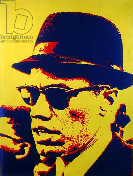 Malcolm X (1925-65) 1968 (screenprint on plexiglass)