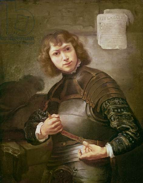 A Young Man in Armour (oil on canvas)