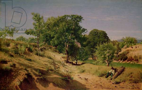 Rural Countryside near Lasalle (oil on canvas)