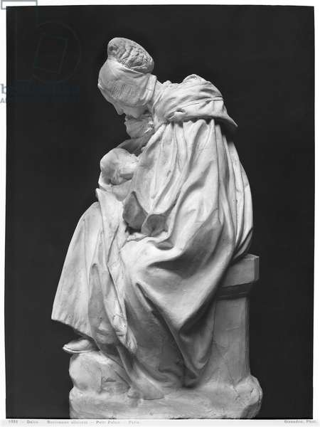 Boulonnaise Woman Feeding her Child (plaster) (see also 217912) (b/w photo)