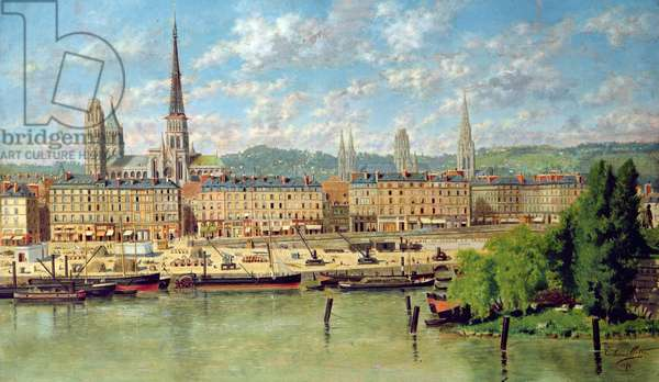 The Port at Rouen, 1878 (oil on canvas)