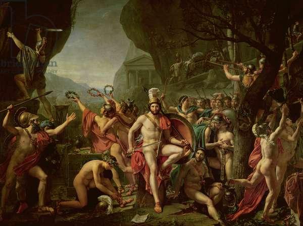 Leonidas at Thermopylae, 480 BC, 1814 (oil on canvas)