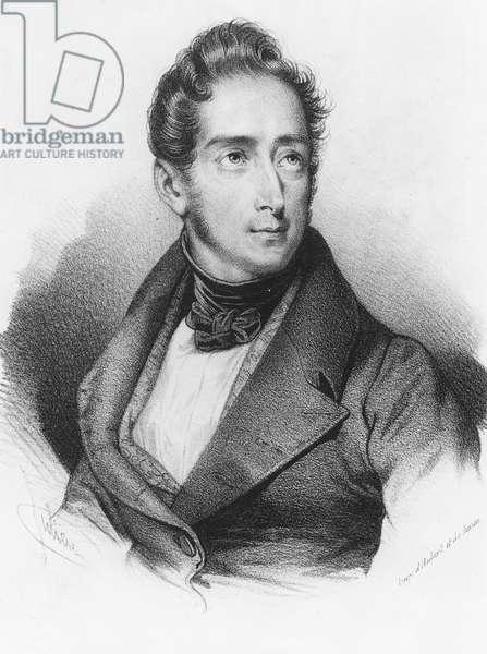 Alphonse de Lamartine (litho)