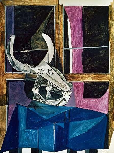 Still Life with Bull's Skull, 5th April 1942 (oil on canvas)