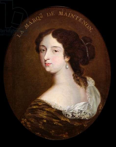 Francoise d'Aubigne (1635-1719) Marquise de Maintenon (oil on canvas)