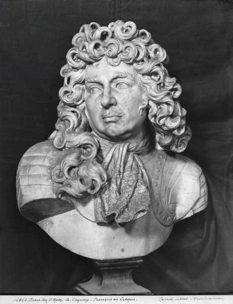 Bust of Francois de Crequy, c.1690 (marble) (b/w photo)