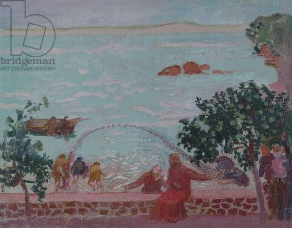 The miraculous draught of fishes, c. 1910 (oil on canvas)