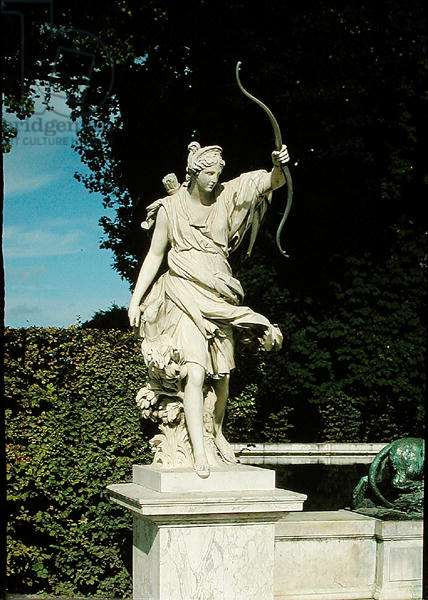 Diana the Huntress, from the Fontaine de Diane (stone)