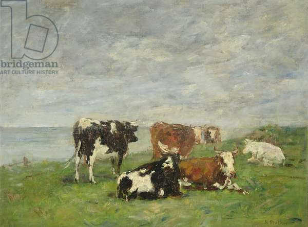 Pasture at the Seaside, c.1880-85 (oil on canvas)