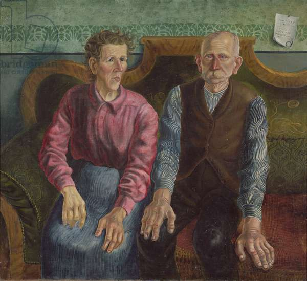 The Artist's Parents II, 1924 (oil on canvas)