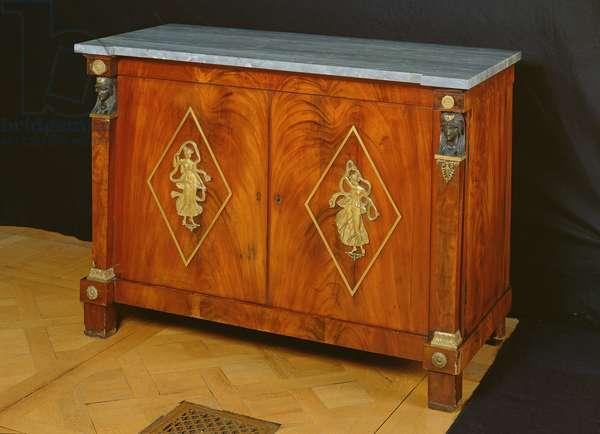 Sideboard, 1805-10 (wood & marble)