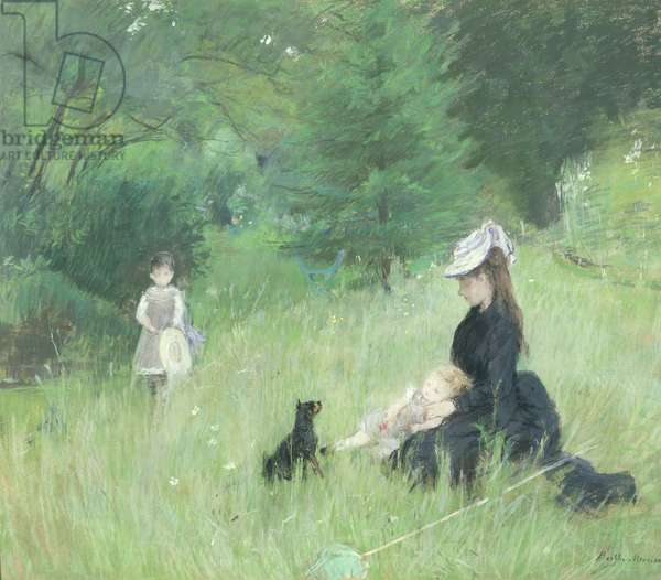 In a Park, c.1874 (pastel on paper)